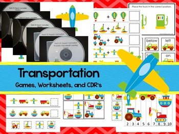 Transportation preschool curriculum package. Great for day
