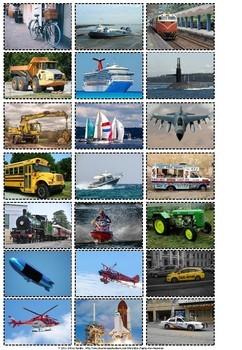 Transportation sort real pictures.