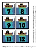Transportation theme Calendar Cover-Ups Memory Game PreK Train Boat Helicopter