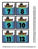 Transportation theme Calendar Cover-Ups Memory Game PreK T