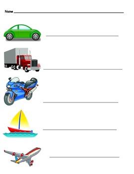 Transportation theme words