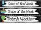 Transportation themed Printable Weekly Focus Bulletin Board Set.