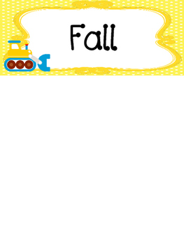 Transportation themed Printable What Is the Season Bulletin Board Set.
