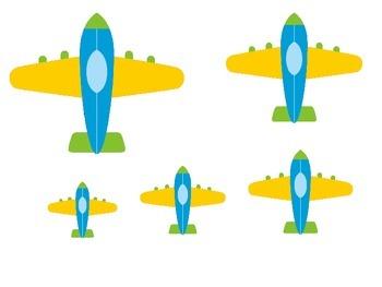 Transportation themed Size Sequence preschool activities.