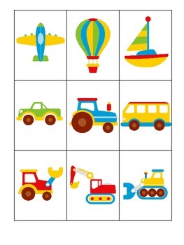 Transportation themed early learning activity for children
