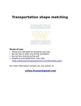 Transportation themed shape matching