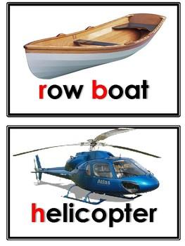 Transportation vehicles flashcards