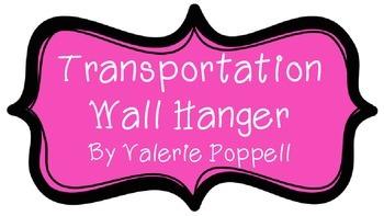 Transportation wall hanger