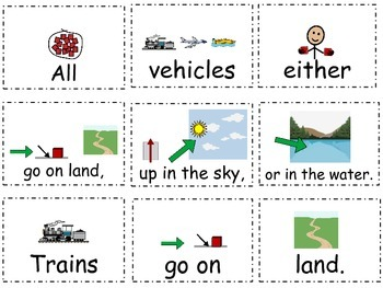 Transportation~Land, Sea, and Air ~Creating and Writing Sentences