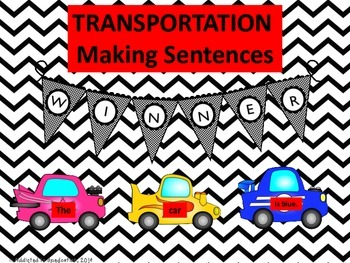 Transportation~Land, Sea, and Air ~Creating and Writing Sentences