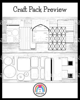 Transportation/Vehicles Craft & Writing:Balloon,Helicopter,Monster Truck,Tractor