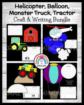 Transportation/Vehicles Craft & Writing:Balloon,Helicopter