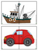 Transportationn Theme - Find a Partner Game - Freebie