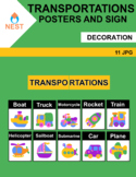 Transportations Banner and Posters