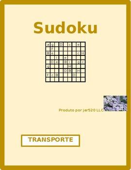 Transporte (Transportation in Portuguese) Sudoku