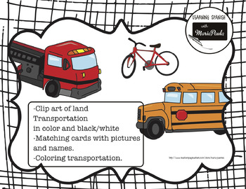 Transporte terrestre and clip art