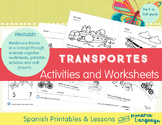 Transportes- Transportation Spanish Bundle