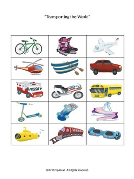 Categorization - Transportation-theme (English Version)