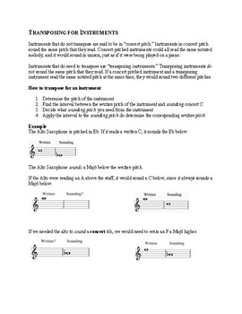 Transposing for Instruments