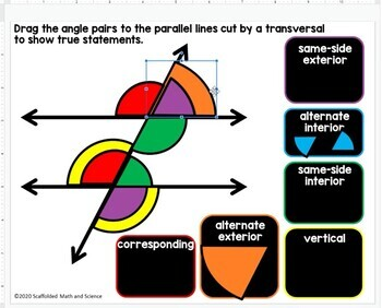 Parallel Lines, Transversals and Angles Poster and Coloring Page