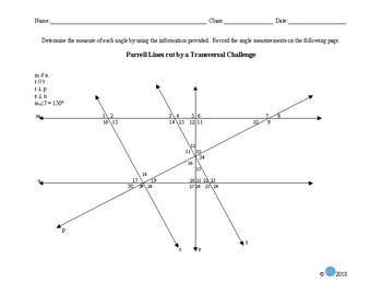 Transversal Challenge Worksheet
