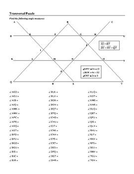Transversal Puzzle