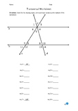 Transversal Worksheet