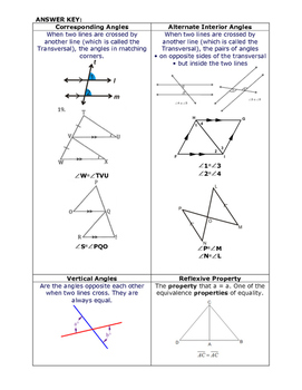 Transversal and Triangle Matching Vocabulary Builder