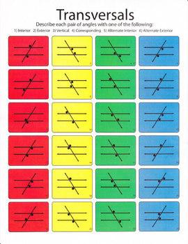 Transversals Worksheet (color)