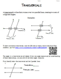 Transversals and Angle Relationships- Around the world Activity