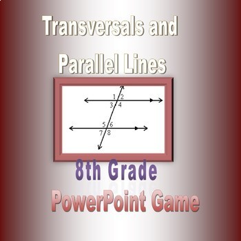 Transversals and Parallel Lines Celebrity Squares