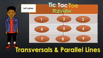 Transversals and Parallel Lines Tic Tac Toe