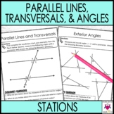 Transversals and Parallel Lines Interior and Exterior Angles Math Stations