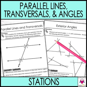 Transversals and Parallel Lines Interior Angles Exterior A