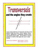 Transversals - and the Angles they Create