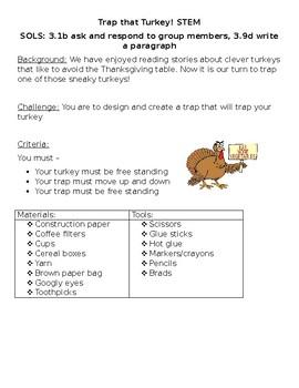 Trap That Turkey: STEM