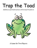 Trap the Toad - Addition and Subtraction of Decimals Game