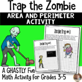 Trap the Zombie Area and Perimeter Halloween Activity for Grades 3-5