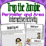 Trap the Zombie Perimeter and Area Activity and Interactive Notebook Pages