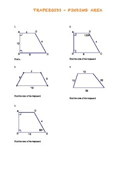 Trapezoid Area Problems