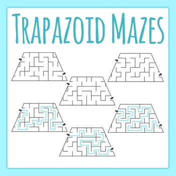 Trapezoid Mazes Clip Art Set for Commercial Use