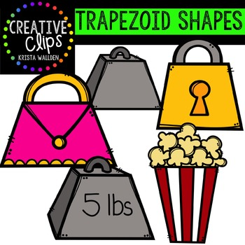 Trapezoid Shapes {Creative Clips Digital Clipart}