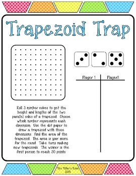 Trapezoid Trap Freebie - finding the area of trapezoids