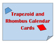 Trapezoid and Rhombus Calendar Cards