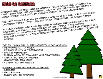 Trapezoid and Triangle Trees: A Holiday Math Activity