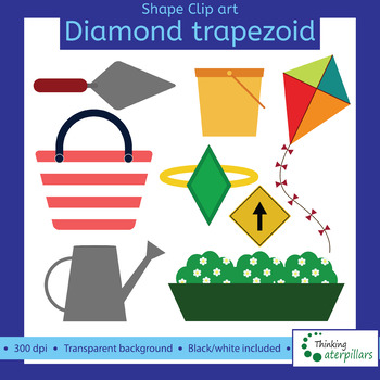 Trapezoid and diamond objects 2D Clip art (shapes)