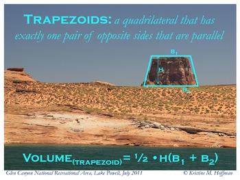"""Trapezoid"" at Lake Powell (Math Poster)"