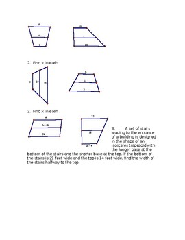 Trapezoidal Midsegments