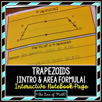 Trapezoids Interactive Notebook Page