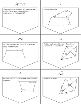 Trapezoids And Kites Ladder Activity By Mrs E Teaches Math Tpt